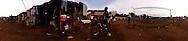 The football field, Kroo Bay, Freetown, Sierra Leone.