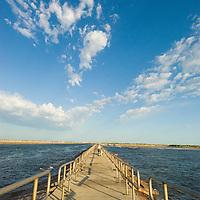 Packery Channel jetty on Mustang Island, Texas Gulf Coast