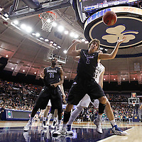 SOUTH BEND, IN - DECEMBER 21: T.J. Cline #0 of the Niagara Purple Eagles watches the ball go out of bounds during action against the Notre Dame Fighting Irish at Purcel Pavilion on December 21, 2012 in South Bend, Indiana. (Photo by Michael Hickey/Getty Images) *** Local Caption *** T.J. Cline