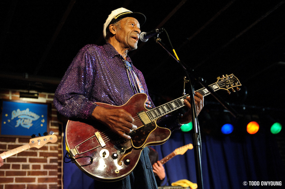 Rock 'n roll pioneer Chuck Berry performing in St. Louis, Missouri at The Duck Room on January 19, 2011.
