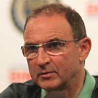 Republic of Ireland Manager Martin O'Neill answers question during Ireland Costa Rica post game press conference Friday. June. 6, 2014 at PPL Park in Chester PA.