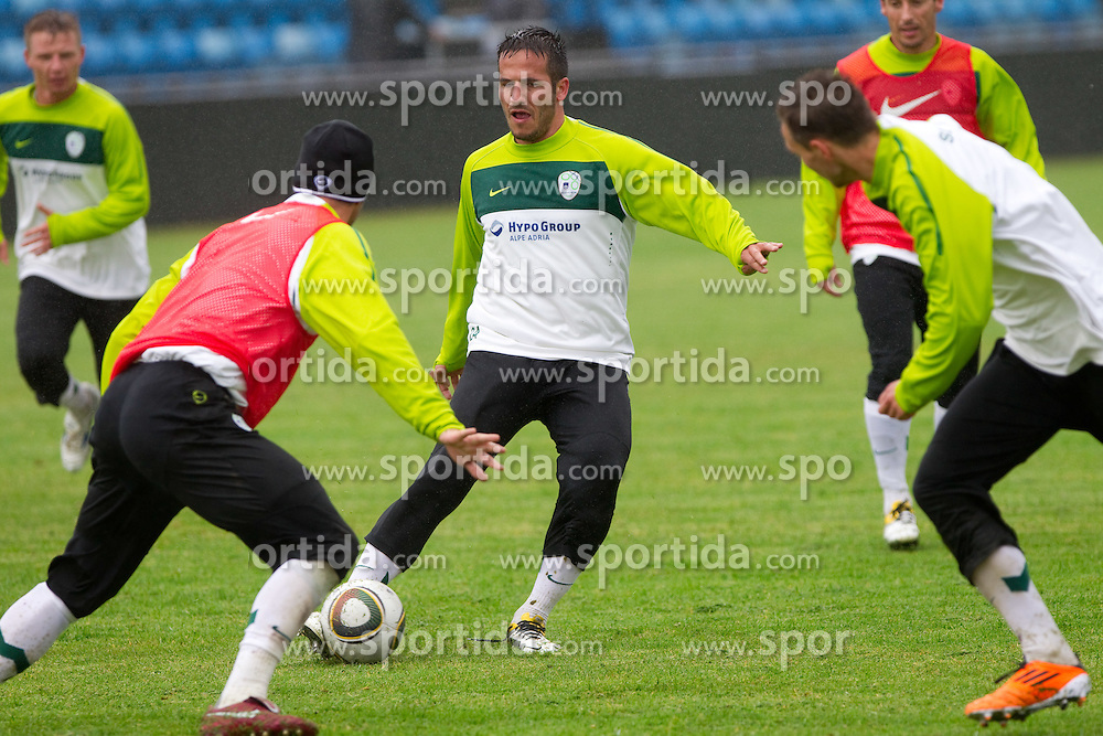 Zlatan Ljubijankic during practice session of Slovenian National football team 1 day before EURO 2012 Qualifications game against Faroe Islands, on June 2, 2011 in Stadium Svangaskard, Toftir, Faroe Islands. (Photo By Vid Ponikvar / Sportida.com)