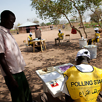 Voters in the Bari town of Kuli Papa on the first day of voting for Southern Sudan's referendum for separation on Jan. 9. 2011