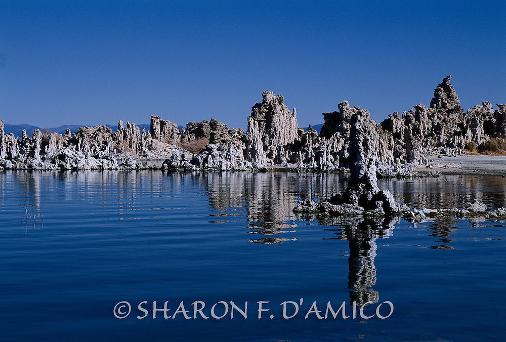 TUFA TOWERS MONO LAKE.JPG<br /> Deep Blue Water and Sunlit Towers. A Limited Edition Print.