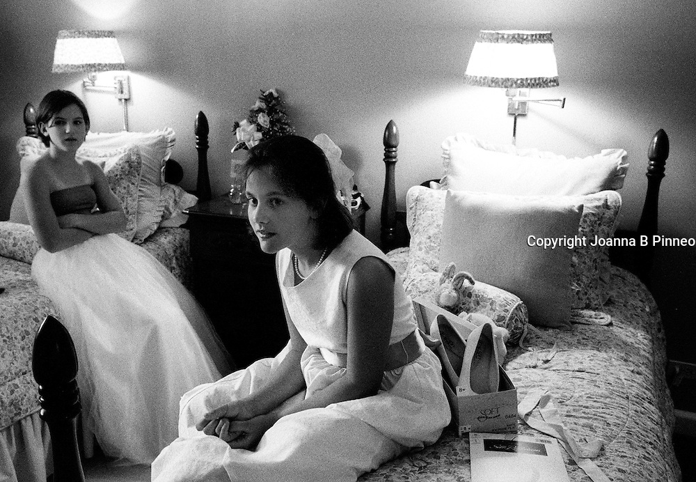 ©2001Joanna B. Pinneo All Rights Reserved.Greenville, Mississippi. Page Wright Milam getting ready for the Delta Debutante's spring reception in Greenville Mississippi.