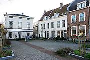 Het Nijntje pleintje bij de 1e Achterstraat in de binnenstad van Utrecht.<br /> <br /> The Miffy square at the 1st Achterstraat downtown Utrecht.