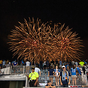 Philadelphia Union fans enjoy a fireworks display after a  MLS regular season match against the Portland Timbers Saturday, July. 20, 2013 at PPL Park in Chester PA.