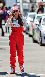 LONG BEACH, CA/USA (Tuesday, April 9, 2013) -  Mexico's most acclaimed and popular actress, Kate del Castillo, walks to a TV interview in the temporary padlock during the 2013 Toyota PRO/Celebrity Race Press/Practice Day. PHOTO © Eduardo E. Silva/SILVEX.PHOTOSHELTER.COM.