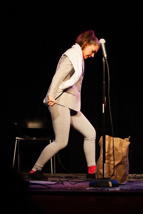 Katie Hannigan as Pee Wee Herman - Schtick or Treat 2013 - Littlefield, Brooklyn - October 27, 2013