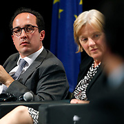 04 June 2015 - Belgium - Brussels - European Development Days - EDD - Closing Panel - From development aid to international Cooperation - Juan Manuel Valle Perena , Managing Director , Mexican Agency for International Development Cooperation - Linda McAvan , Chair of the Committee on Development , European Parliament © European Union