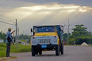 Russian truck in Sandino, Pinar del Rio, Cuba.