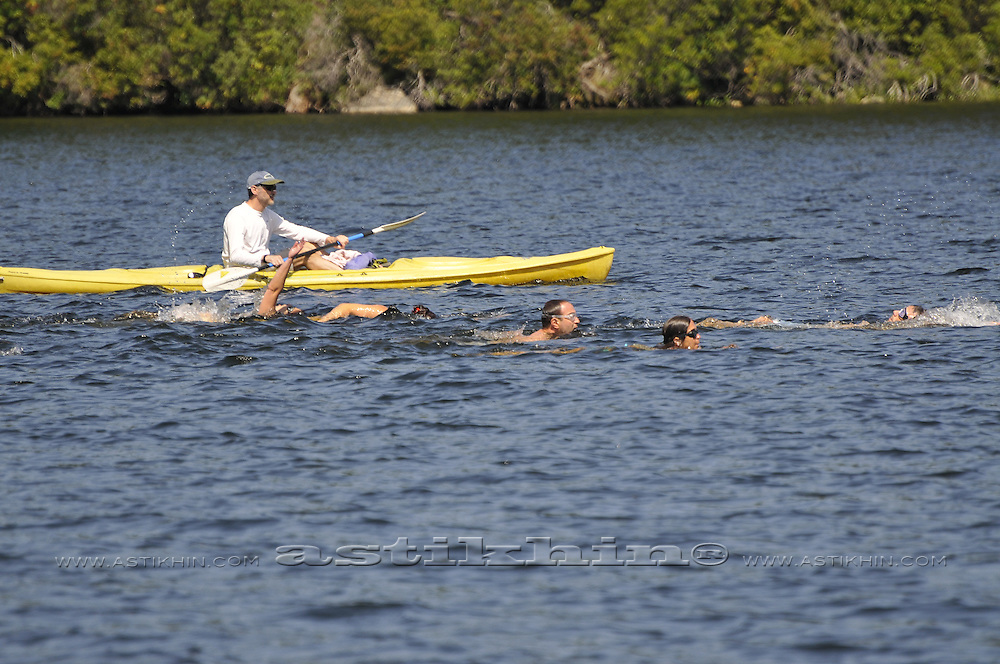 Labor Day Swimming on Sebago Lake