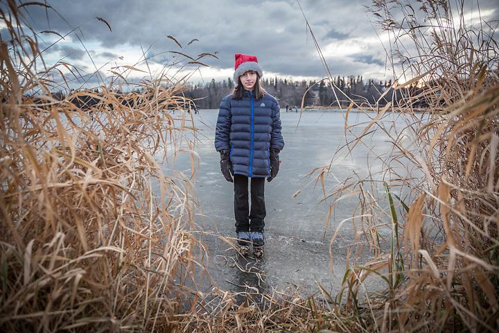 Ten year old Ani Nosek, Westchester Lagoon, Anchorage  peter.nosek@chenega.com