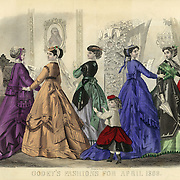 Fashions from Godey's Ladies Book 1868