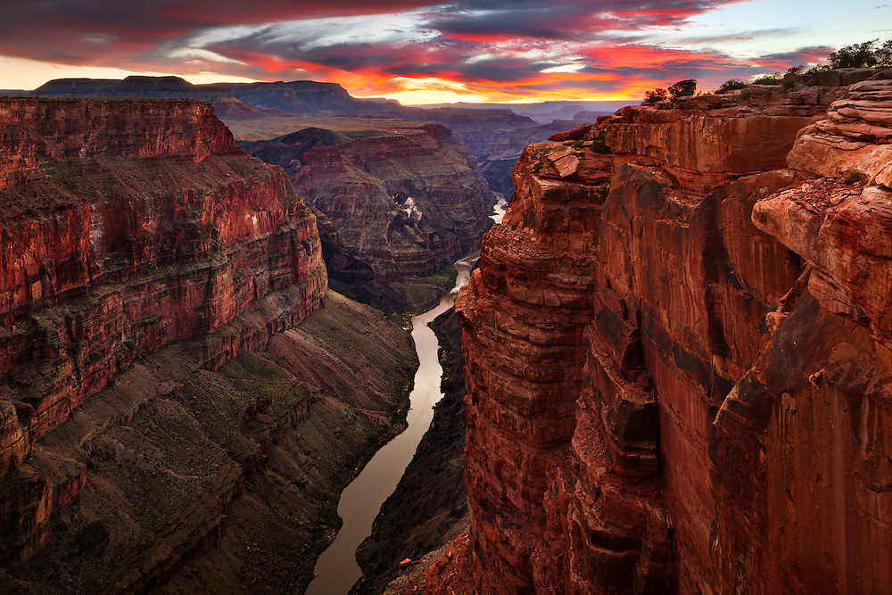 Sunset at Toroweap in the Tuweep Ranger District of Grand Canyon National Park.