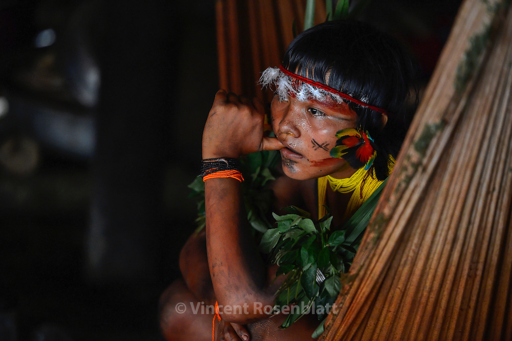 Woman assisting the welcoming party and shamanic  ceremony.