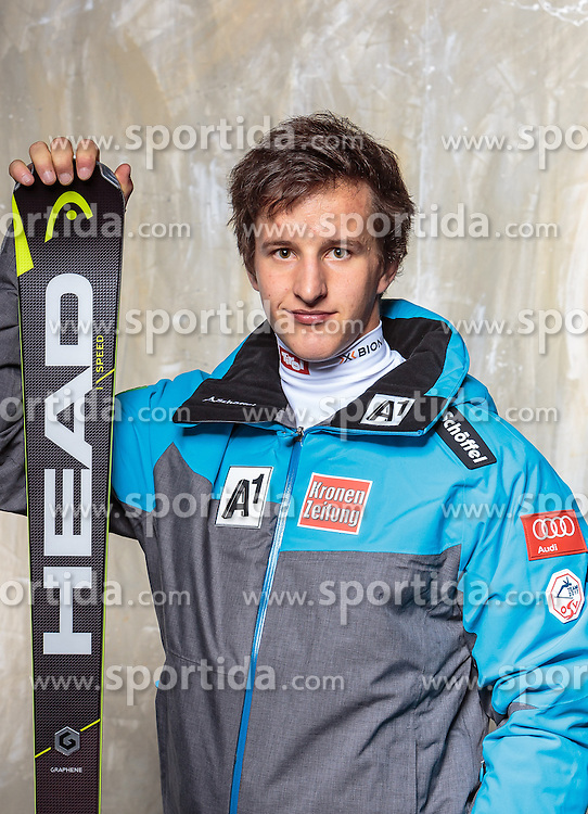 08.10.2016, Olympia Eisstadion, Innsbruck, AUT, OeSV Einkleidung Winterkollektion, Portraits 2016, im Bild Adrian Pertl, Ski Alpin, Herren // during the Outfitting of the Ski Austria Winter Collection and official Portrait Photoshooting at the Olympia Eisstadion in Innsbruck, Austria on 2016/10/08. EXPA Pictures © 2016, PhotoCredit: EXPA/ JFK