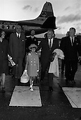 1963 -  Prince Rainier and Princess Grace of Monaco and family arrive at Dublin Airport