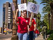 Union Members Picket CenturyLink