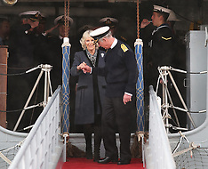 FEB 26 2014 Prince of Wales and Duchess of Cornwall in Portsmouth