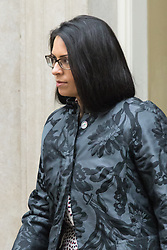 Downing Street, London, June 2nd 2015. Priti Patel, Minister of State for Employment, leaves 10 Downing Street following the weekly meeting of the Cabinet.