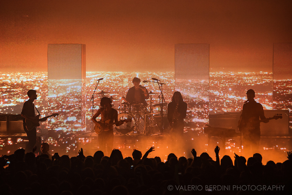 The 1975 performing live at the Cambridge Corn Exchange on 19 November 2015.<br /> <br /> This photo has been published on the Guardian on 4 Jan 2016. http://www.theguardian.com/culture/2016/jan/04/150-unmissable-culture-events-2016#img-37