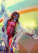 Wayne Coyne of The Flaming Lips performs live on stage at O2 Academy Brixton on May 28, 2014 in London, England.  (Photo by Simone Joyner)