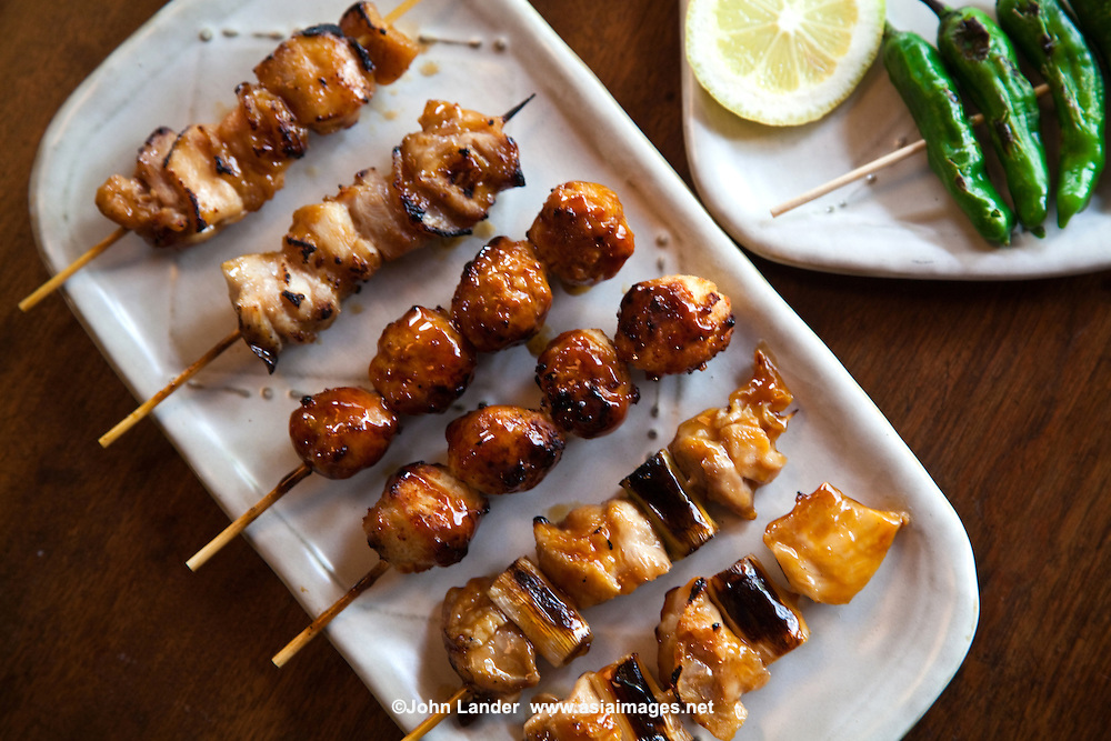 japanese chicken skewers japanese food japanese cuisine yaki tori yaki ...
