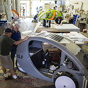 The factory floor at Organic Transit, Durham, N.C., Friday, May 24, 2013