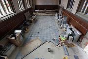 Robert Lovick from OG Stonemasonry. Pembroke College Hall, Bar and Forte Room September 16th 2010
