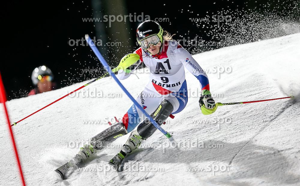 13.01.2015, Hermann Maier Weltcupstrecke, Flachau, AUT, FIS Weltcup Ski Alpin, Flachau, Slalom, Damen, 1. Lauf, im Bild Wendy Holdener (SUI) // Wendy Holdener of Switzerland in action during 1st run of the ladie's Slalom of the FIS Ski Alpine World Cup at the Hermann Maier Weltcupstrecke in Flachau, Austria on 2015/01/13. EXPA Pictures © 2015, PhotoCredit: EXPA/ Johann Groder