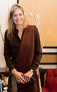Queen Maxima of The Netherlands meets governor of the State Bank of Pakistan Ashraf Mahmood Wathra at the Serena hotel in Islamabad, Pakistan, 9 February 2016. Queen Maxima is in Pakistan as United Nations Secretary-General&rsquo;s Special Advocate for Inclusive Finance for Development to promote and support financial services in development countries. Photo: Robin Utrecht<br /> 9-2-2016 ISLAMABAD Koningin M&aacute;xima is van dinsdag tot en met donderdag in Pakistan. Zij bezoekt het land in haar rol als speciale pleitbezorger van de secretaris-generaal van de Verenigde Naties. M&aacute;xima bevordert in die hoedanigheid betere toegankelijkheid van financi&euml;le diensten. De koningin heeft in de Pakistaanse hoofdstad Islamabad ontmoetingen met president Mamnoon Hussain en premier Nawaz Sharif. Verder staan er gesprekken gepland met vertegenwoordigers van onder andere de bankensector en telecombedrijven. M&aacute;xima gaat ook Islamabad uit en bezoekt in het aangrenzende Rawalpindi diverse projecten waarbij nut en noodzaak van toegankelijke financi&euml;le diensten worden aangetoond. COPYRIGHT ROBIN UTRECHT