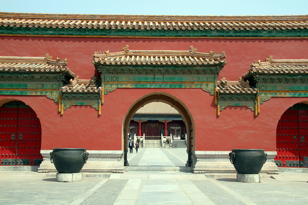 Asia, China, Beijing. Gateway of Forbidden Palace.