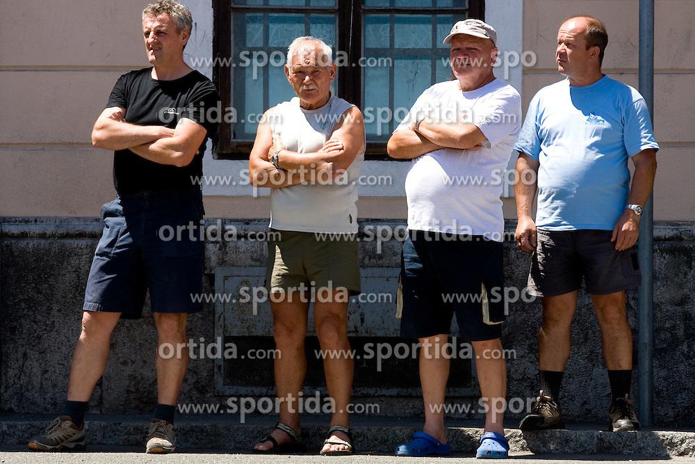 Fans in Skofja Loka at 2nd stage of Tour de Slovenie 2009 from Kamnik to Ljubljana, 146 km, on June 19 2009, Slovenia. (Photo by Vid Ponikvar / Sportida)