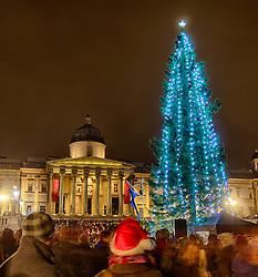 The lighting of Trafalgar Square Christmas Tree, London, UK, December 6, 2012. Photo by Andre Camara / i-Images