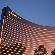 Wynn Las Vegas Resort and Country Club is a luxury casino resort located on the Las Vegas Strip in Paradise, Nevada. The US $2.7 billion resort is named after casino developer Steve Wynn and is the flagship property of Wynn Resorts Limited. The resort covers 215 acres (87 ha)...The 2,716 rooms range in size from 640 sq ft (59 m2) to the villas at 7,000 sq ft (650 m2) with a 111,000 sq ft (10,300 m2) casino, a convention center with 223,000 sq ft (20,700 m2) of space, and 76,000 sq ft (7,100 m2) of retail space. Together with the adjacent Encore which opened in late 2008, the entire Wynn resort complex has a total of 4,750 rooms. Its height is 614 ft (187 m), and it has 45 floors.