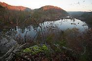 View of Mountain Island from Hill Island, Cedar Creek Reservoir, Catawba River