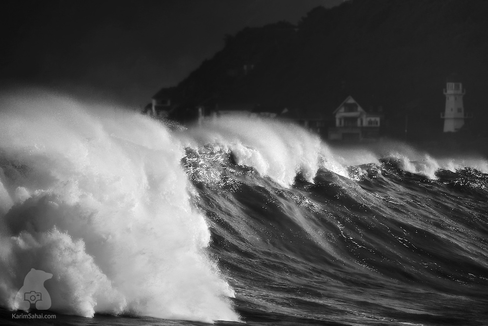 Large waves at Houghton Bay, Wellington, New Zealand