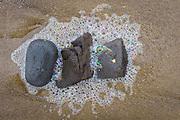 Sea foam and rocks, Oregon coast