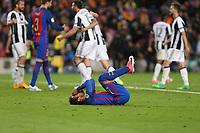 19.04.2017 - Barcellona  -  Quarti di finale  Champions League, Barcellona-Juventus , Nella foto:  la disperazione di Neymar
