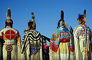 Womens Traditional Dancers,<br /> North American Indian days,<br /> Browning, Montana, USA