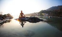 Yogi Amitam at the Ganga