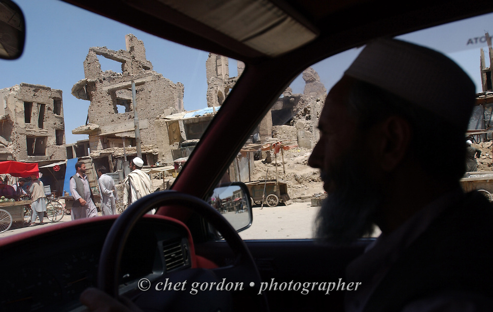 """A drive through an area known as """"Old Kabul City"""" in Kabul, Afghanistan on Sunday, May 26, 2002."""