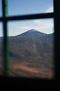 Mt. Marcy through the window of the Mt. Adam's firetower