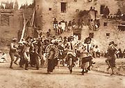 NATIVE AMERICANS E. Curtis photograph, early 20th century, Buffalo Dance at Hano