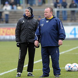 Steve Yates(L) and Tom Foley(R) - Photo mandatory by-line: Neil Brookman/JMP - Mobile: 07966 386802 - 07/02/2015 - SPORT - Football - Bristol - Memorial Stadium - Bristol Rovers v Lincoln City - Vanarama Football Conference