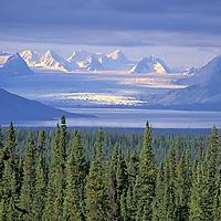 View from Glenn Highway.Tazlina Glacier.Chugach Mountains.Alaska.USA