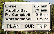 Great Ocean Road Scenery signage.Victoria .4th of May 2005.(C) Joel Strickland Photographics.Use information: This image is intended for Editorial use only (e.g. news or commentary, print or electronic). Any commercial or promotional use requires additional clearance.