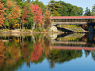 Saco River Covered Bridge in Conway NH.