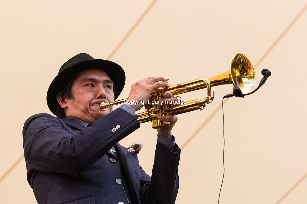 Mountain Mocha Kilimanjaro from Japan play at Womadelaide 2016 Music Festival held between 11 - 14 March 2016 in Adelaide, South Australia